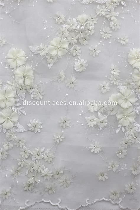 2016 wholesale evening dress 3d flower french lace fabric
