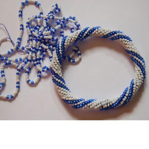 Сшивание вязаного жгута | biser.info - всё о бисере и бисерном творчестве