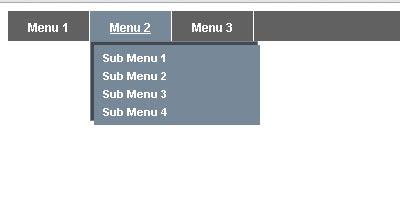 membuat menu dropdown menggunakan css
