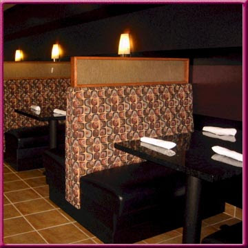 Banquette & Diner Booth Photos; Restaurant Tables and Chairs