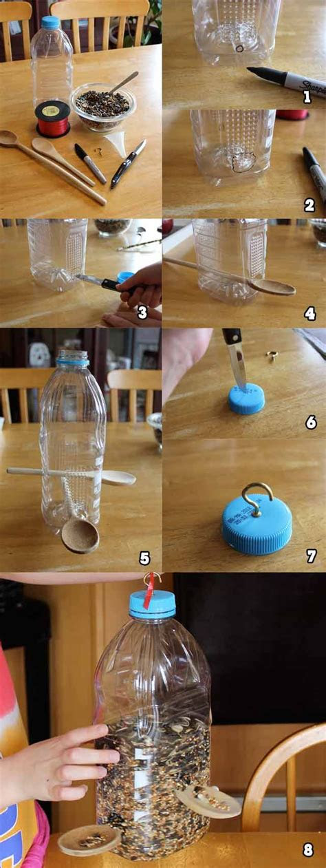 soda bottle bird feeder tutorial homemade bird feeders