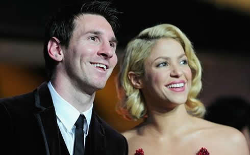 Shakira and Lionel Messi photo at FIFA Balon d'Or 2011-2012 gala and ceremony