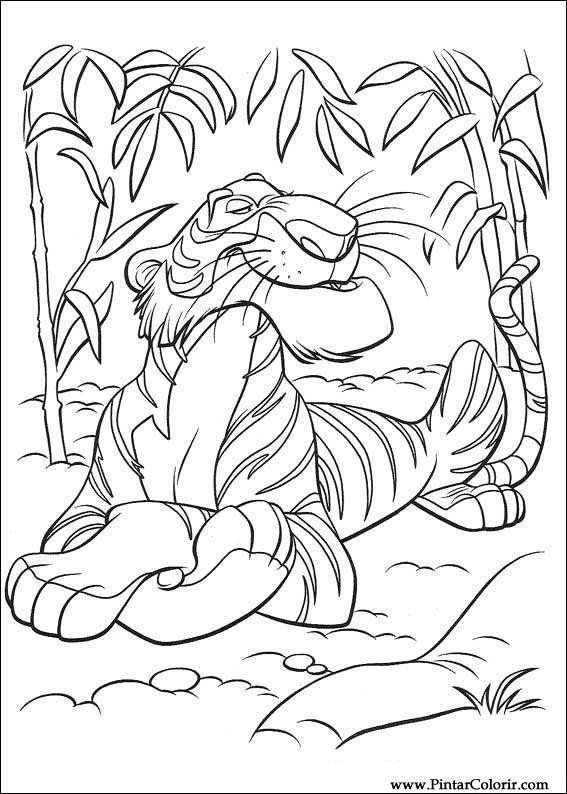 pintar colorir o livro da selva 037