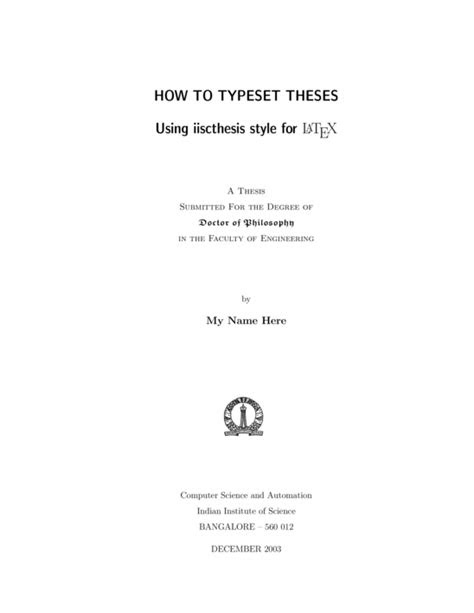 thesis cover page latex template - DriverLayer Search Engine