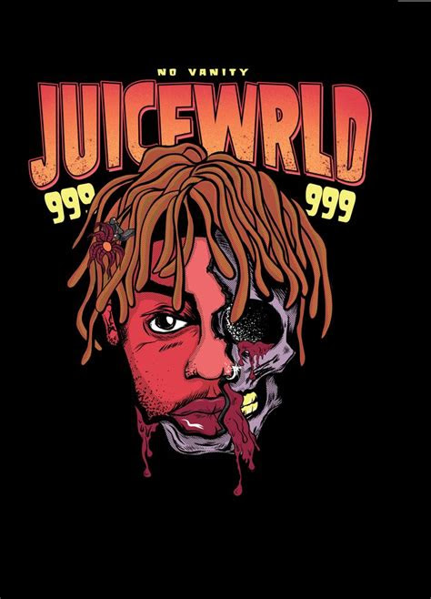 juice wrld skull poster   yeah bitches rapper