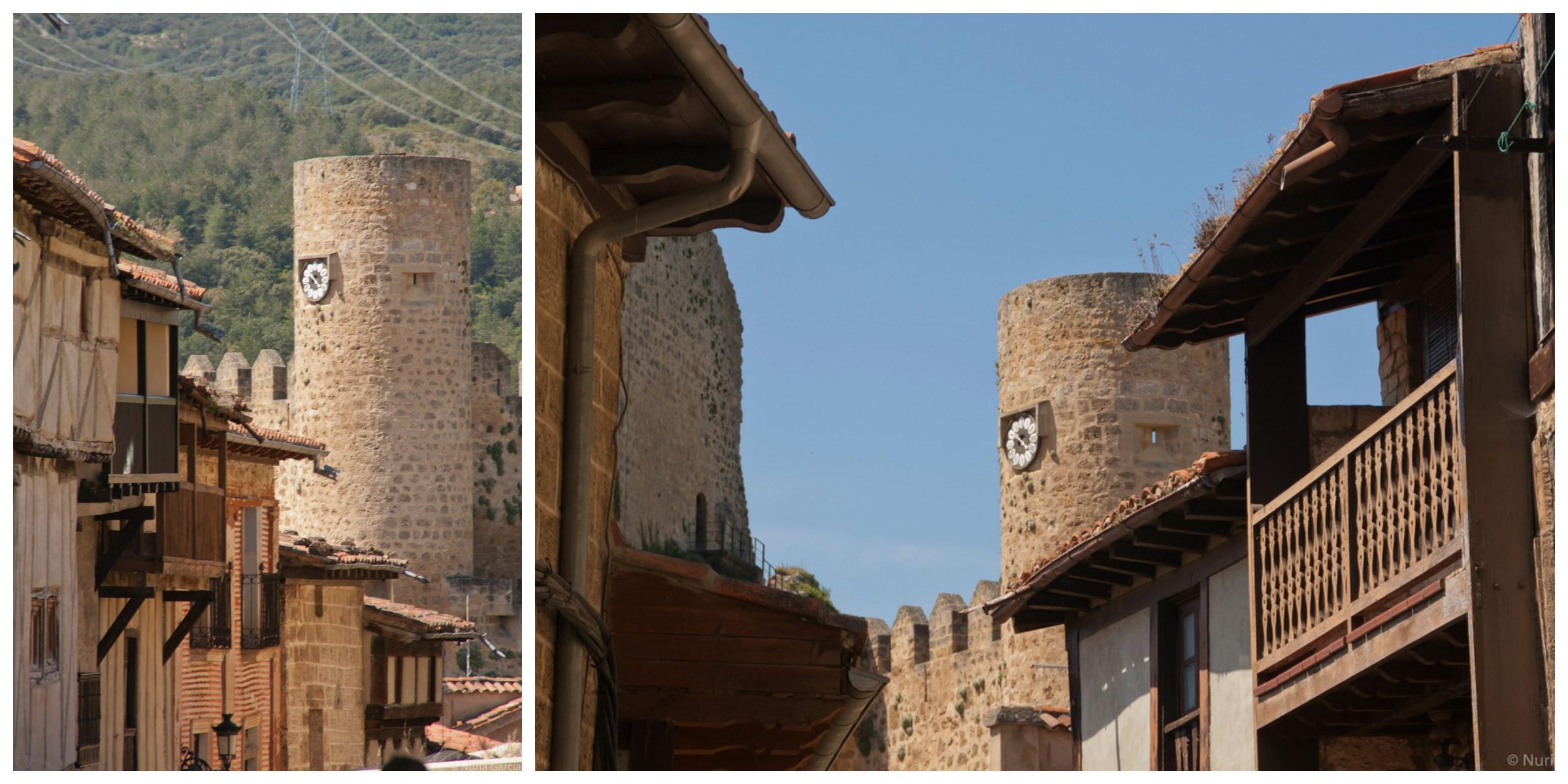 Vistas de la Torre del Reloj del Castillo y de las casas características