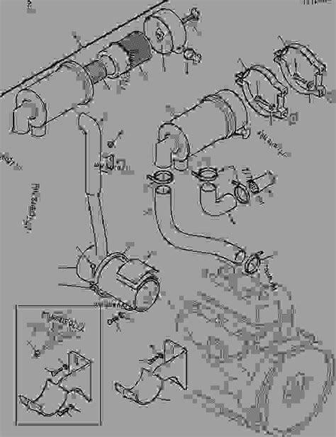 AIR SUCTION - MUFFLER - Wheel Loader Komatsu SK05J-2