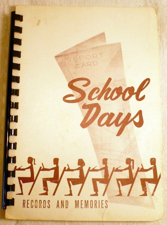School Days Records and Memories File System by SarahsAtticStuff
