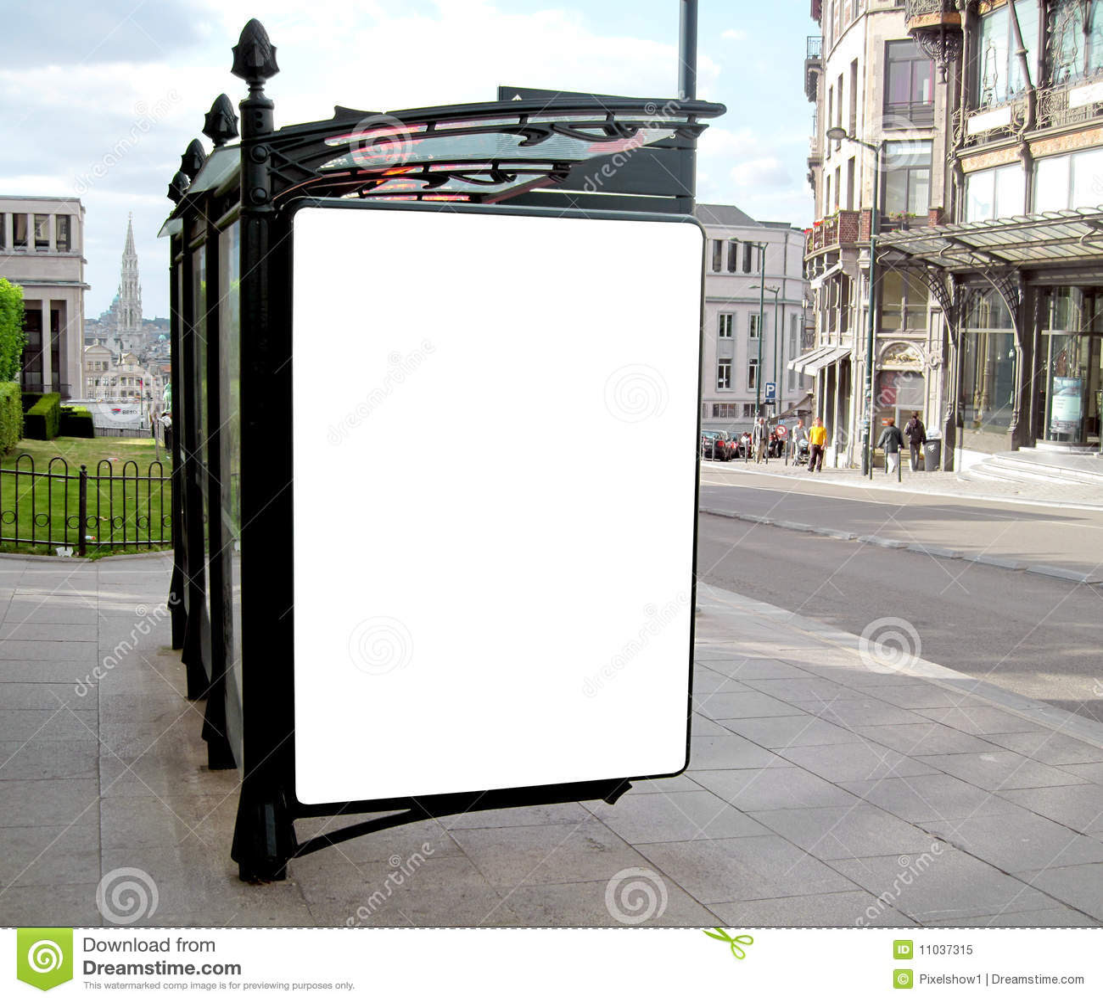 Blank Outdoor Billboard Stock Image - Image: 30795041