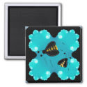Bumble Bees Refrigerator Magnets