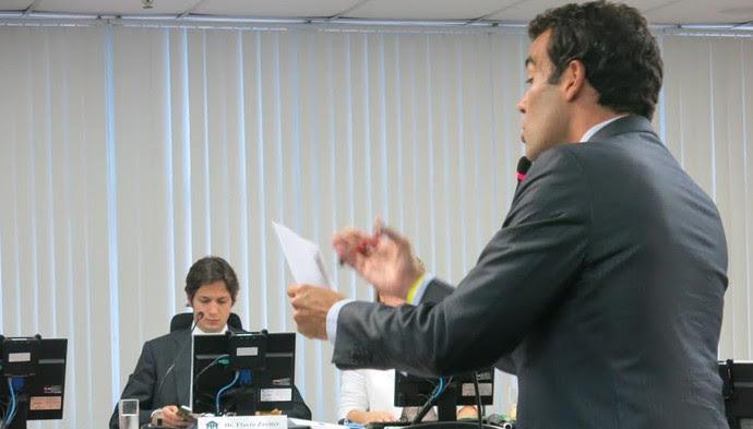 Michel Assef Filho advogado Flamengo Julgamento STJD (Foto: Edgard Maciel de Sa)