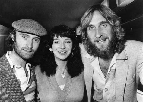 Phil Collins with Kate Bush and fellow Genesis band member