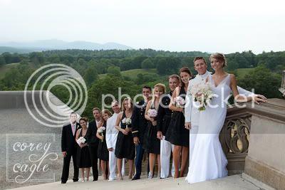 views at biltmore estate wedding