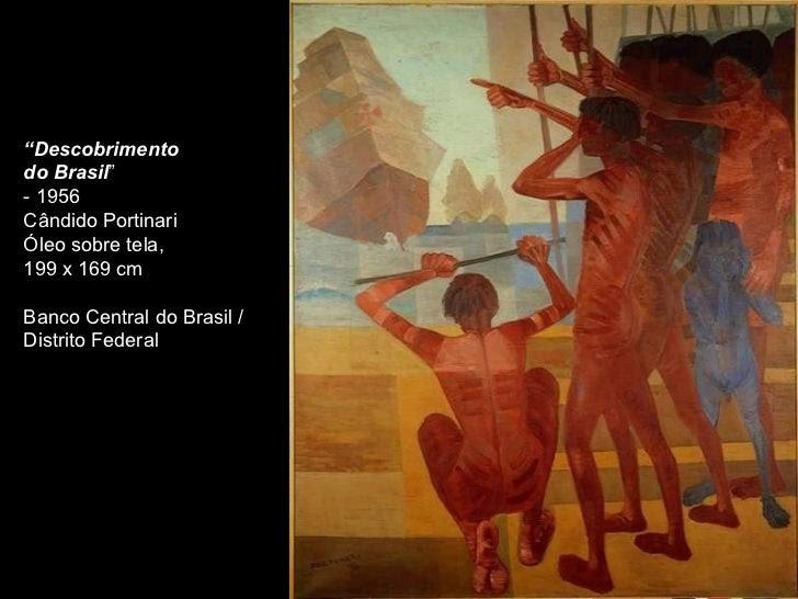 Resultado de imagem para o descobrimento do brasil candido portinari