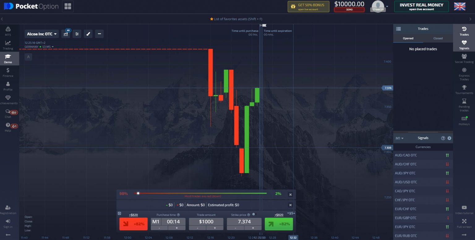 how to trade bitcoin binary options
