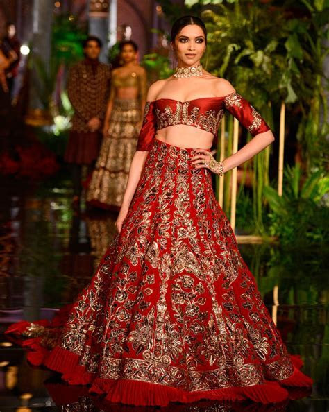 Indian Style Modern Embroidered Lehnga with Off Shoulder