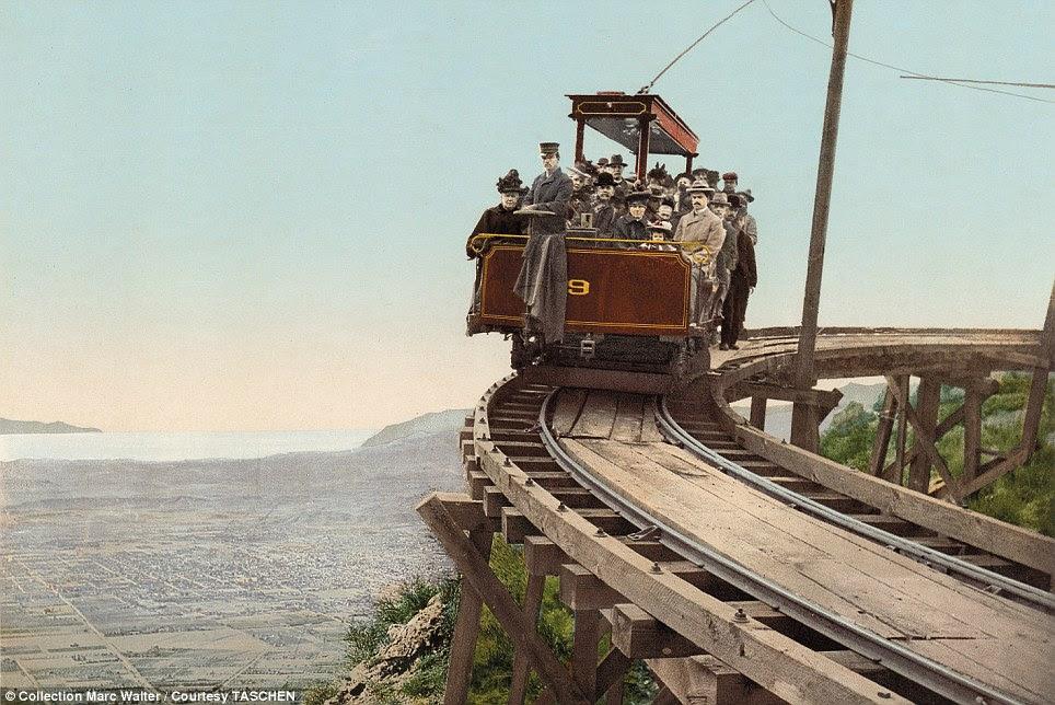 No bom caminho: Transporte é um tema dominante em todas as imagens, mostrando a América na vanguarda da tecnologia