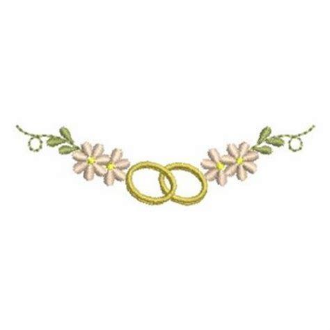 Izyaschnye wedding rings: Machine embroidery designs