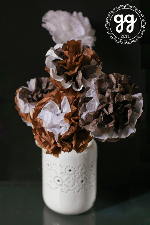 autumn paper flower