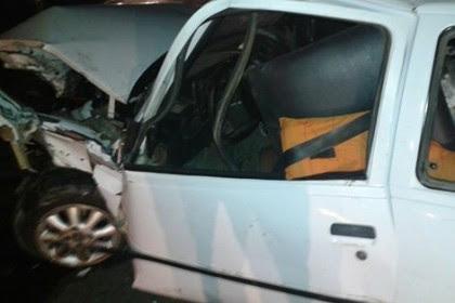 n capotou após acidente na BR-116 Foto: Blog do Anderson
