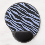 Sky Blue Zebra Striped Gel Mouse Pad