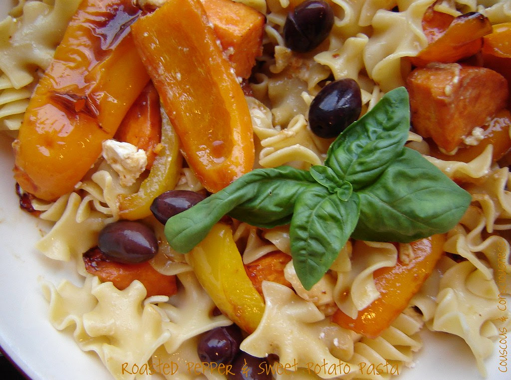 Roasted Pepper & Sweet Potato Pasta 1
