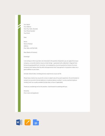Struktur Application Letter In English Resumetrusted Com