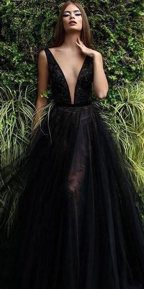 27 Beautiful Black Wedding Dresses That Will Strike Your