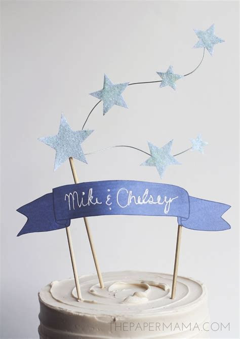 25  Best Ideas about Banner Cake Toppers on Pinterest