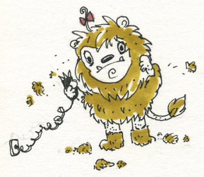 Cowardly Lion by Karin Yamagiwa Madan