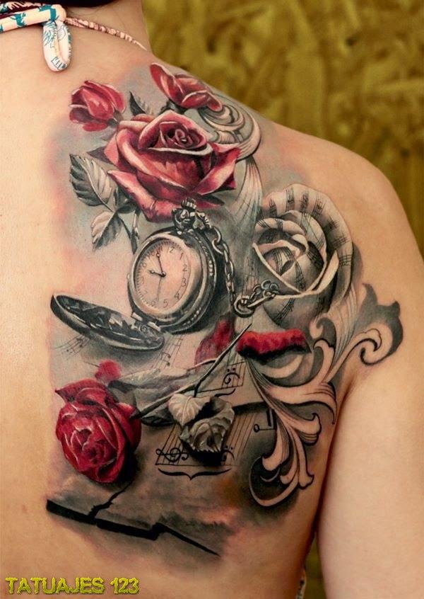 La Belleza Y El Paso Del Tiempo Tatuajes 123