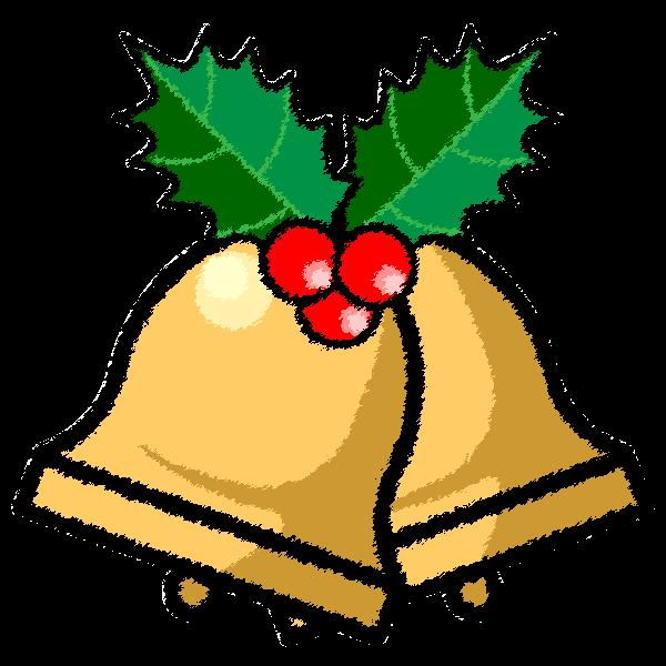 手書き風でかわいいクリスマスベル4の無料イラスト商用フリー オイデ43