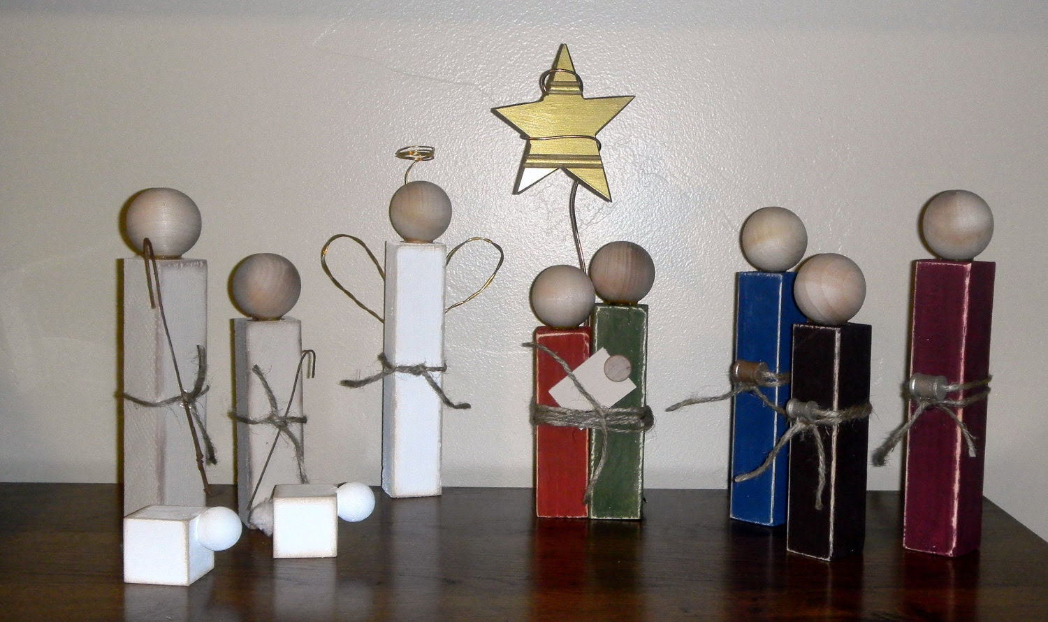 Simple Wooden Nativity Set