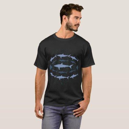 Shortfin Mako Shark Marine Biology Art T-Shirt