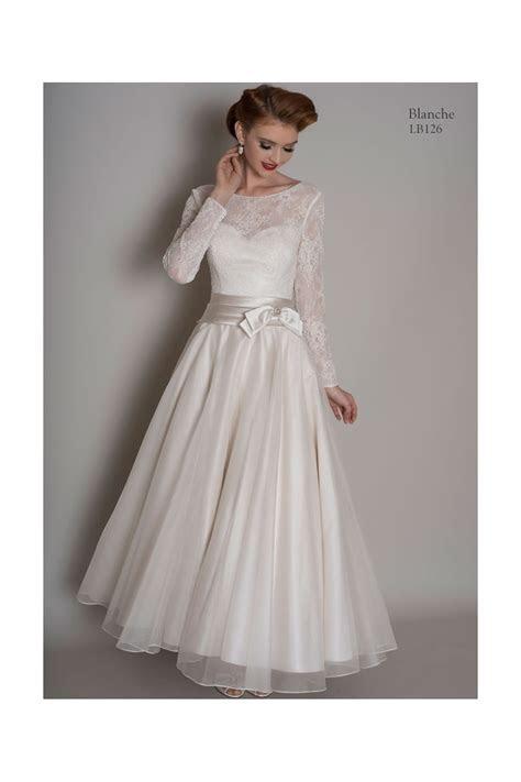 Loulou BLANCHE Calf Length Short Vintage Wedding Dress