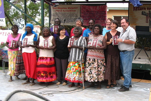Bible translation team