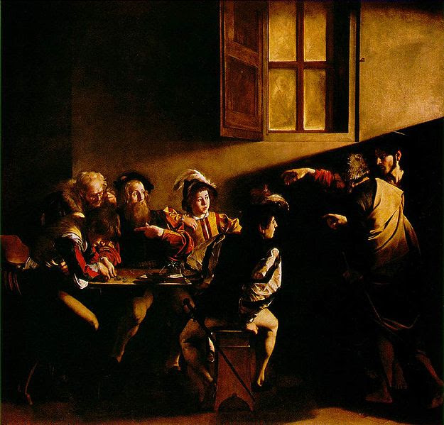 Ficheiro:The Calling of Saint Matthew by Carvaggio.jpg