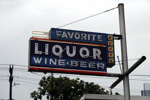 favorite liquor & wine neon sign