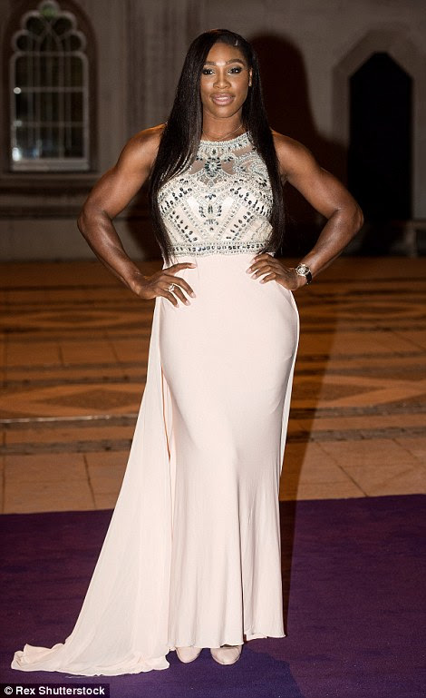 Serena Williams proved her body-shaming critics wrong tonight as she stepped out alongside Novak Djokovic to show off her enviable figure at the Wimbledon Champions' Dinner