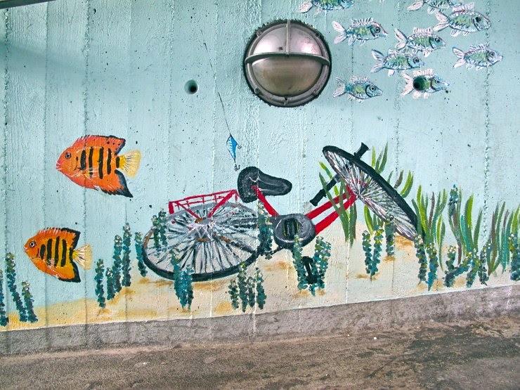 Drowned bicycle