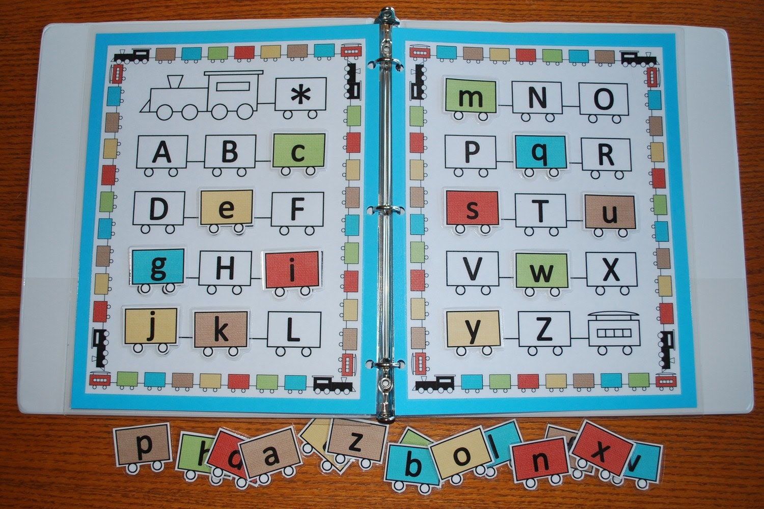Train Alphabet Printable Game by abbiesolutely on Etsy