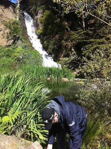 Geocache at Rainbow Falls