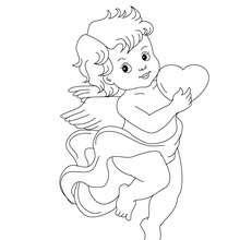 Dibujos Para Colorear Cupido Con Un Corazon Es Hellokids Com