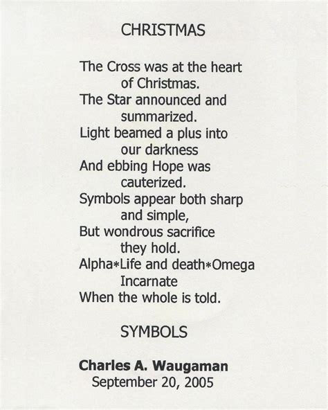Christmas by Charles A. Waugaman ? Poems From Oostburg