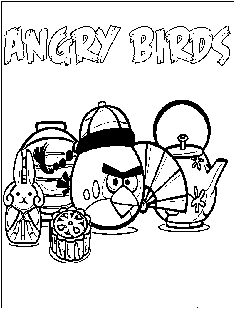 Angry Bird Coloring Pages Printable