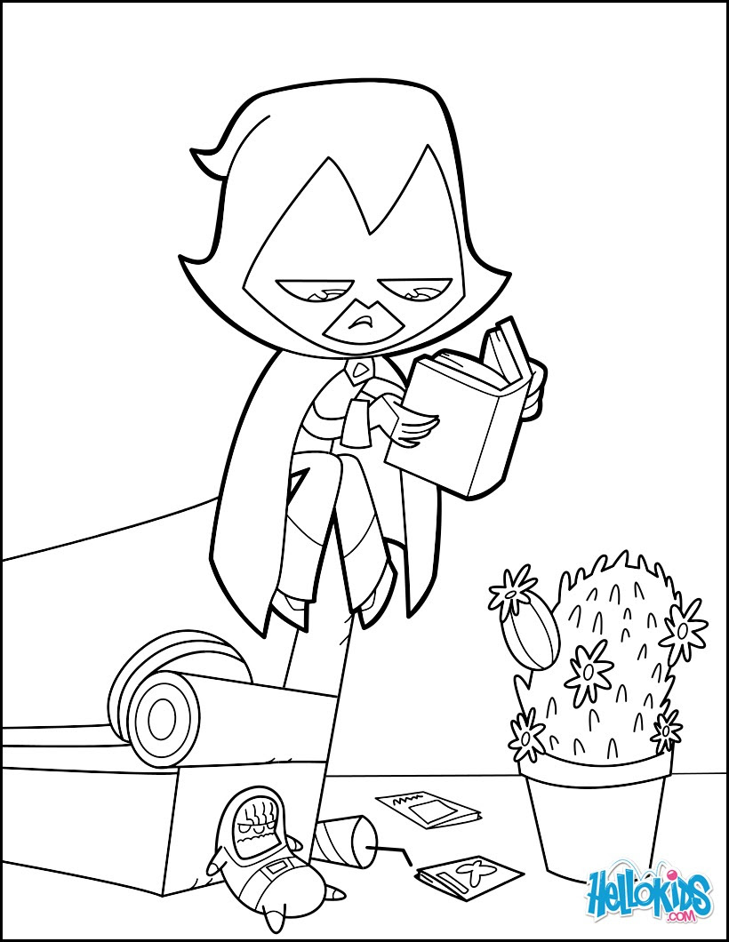 Coloriage Teen Titans Go Robin Auto Electrical Wiring Diagram