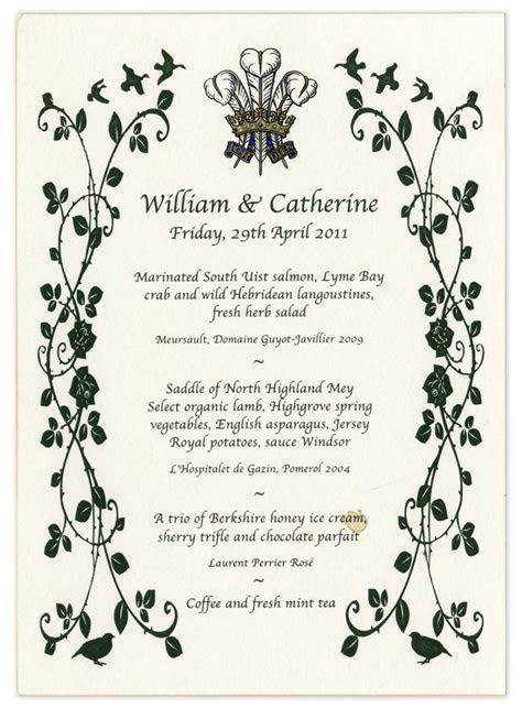 Prince William and Kate Middleton's Royal Wedding Menu