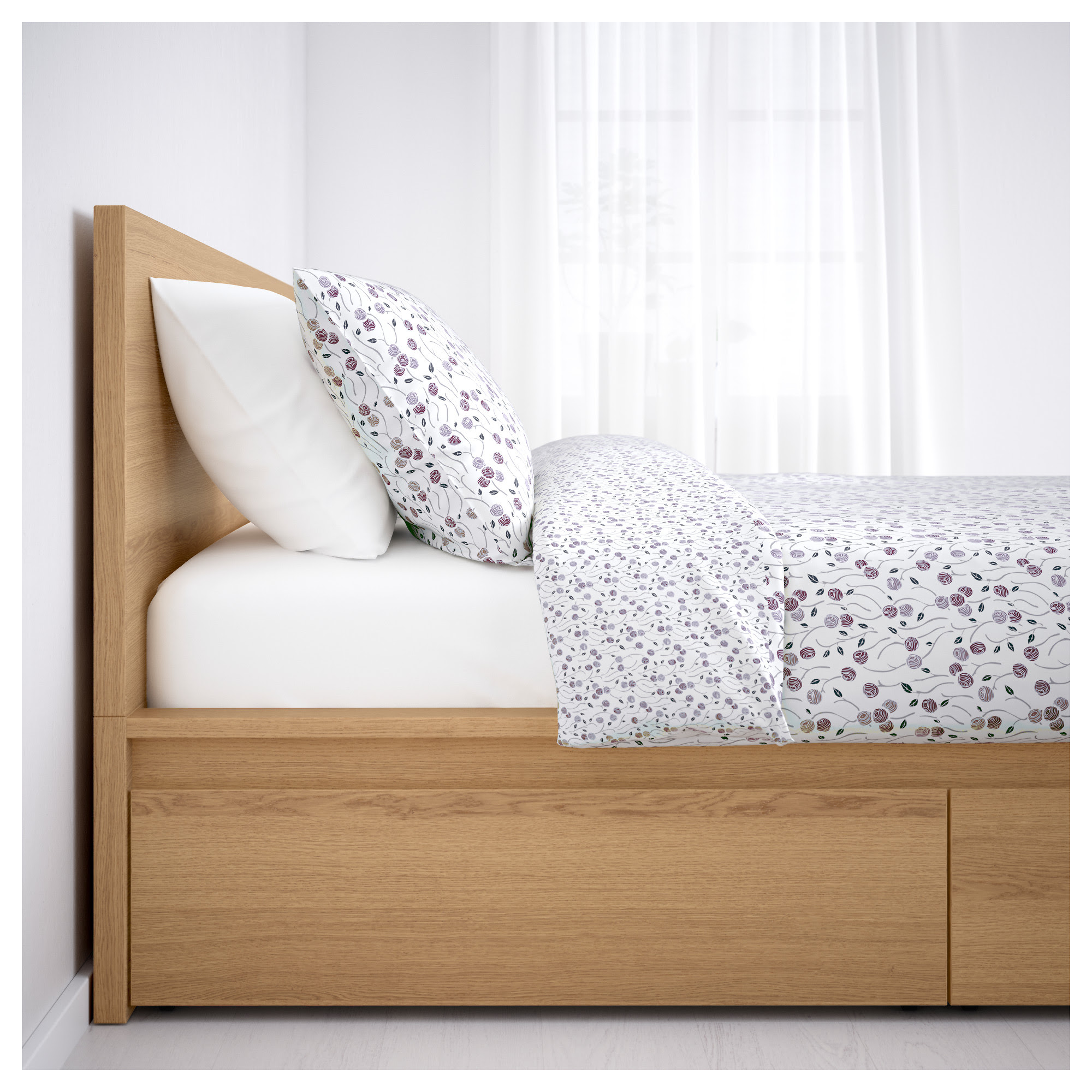 Ikea Malm Bed Frames With Night Stands Assembled At The Apartments