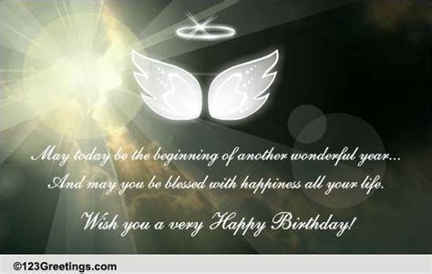 May You Be Blessed With  Free Birthday Blessings eCards