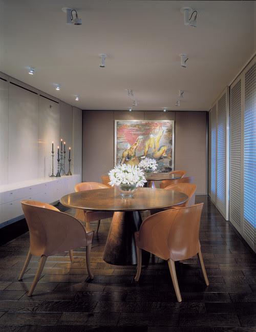 highland park contemporary dining room
